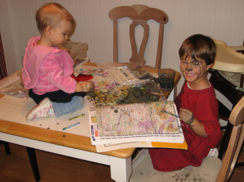 kids and watercolors