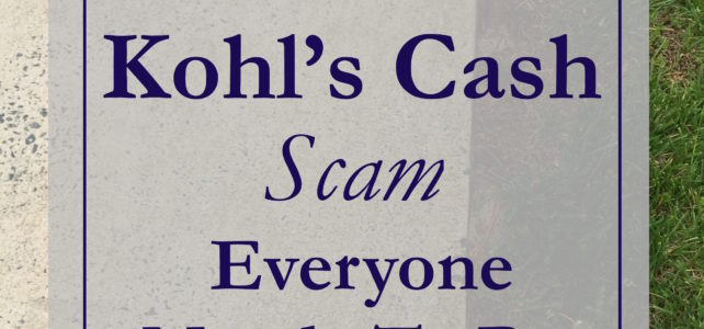 the kohl's cash scam everyone needs to be aware of